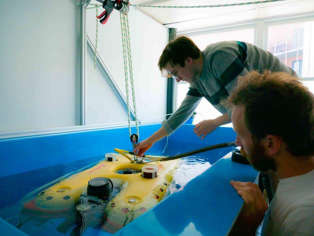 Blueprint Lab's indoor test tank