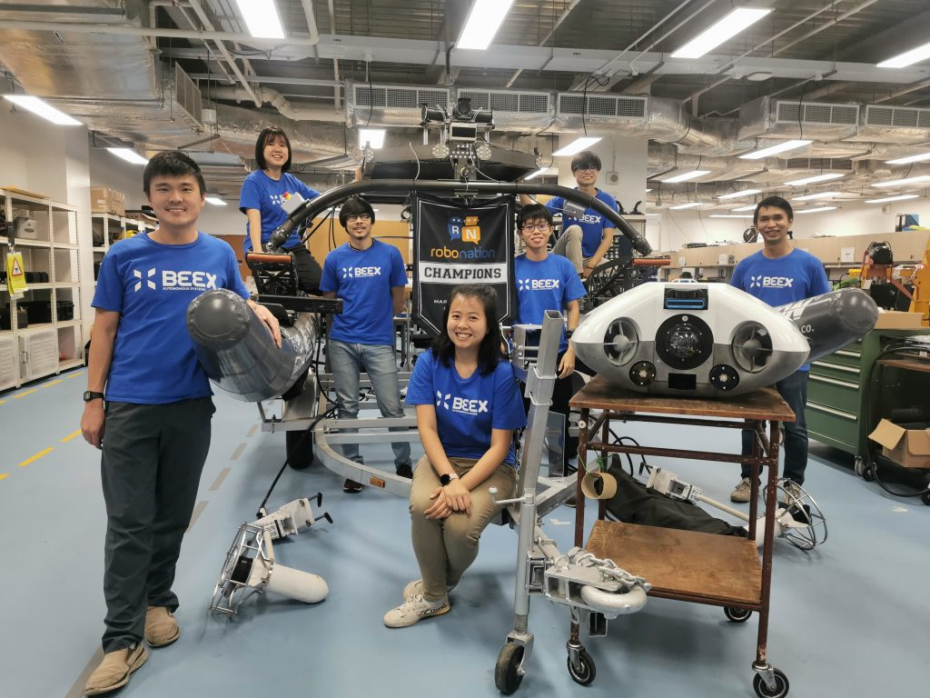 The BeeX Team and their flagship AUV