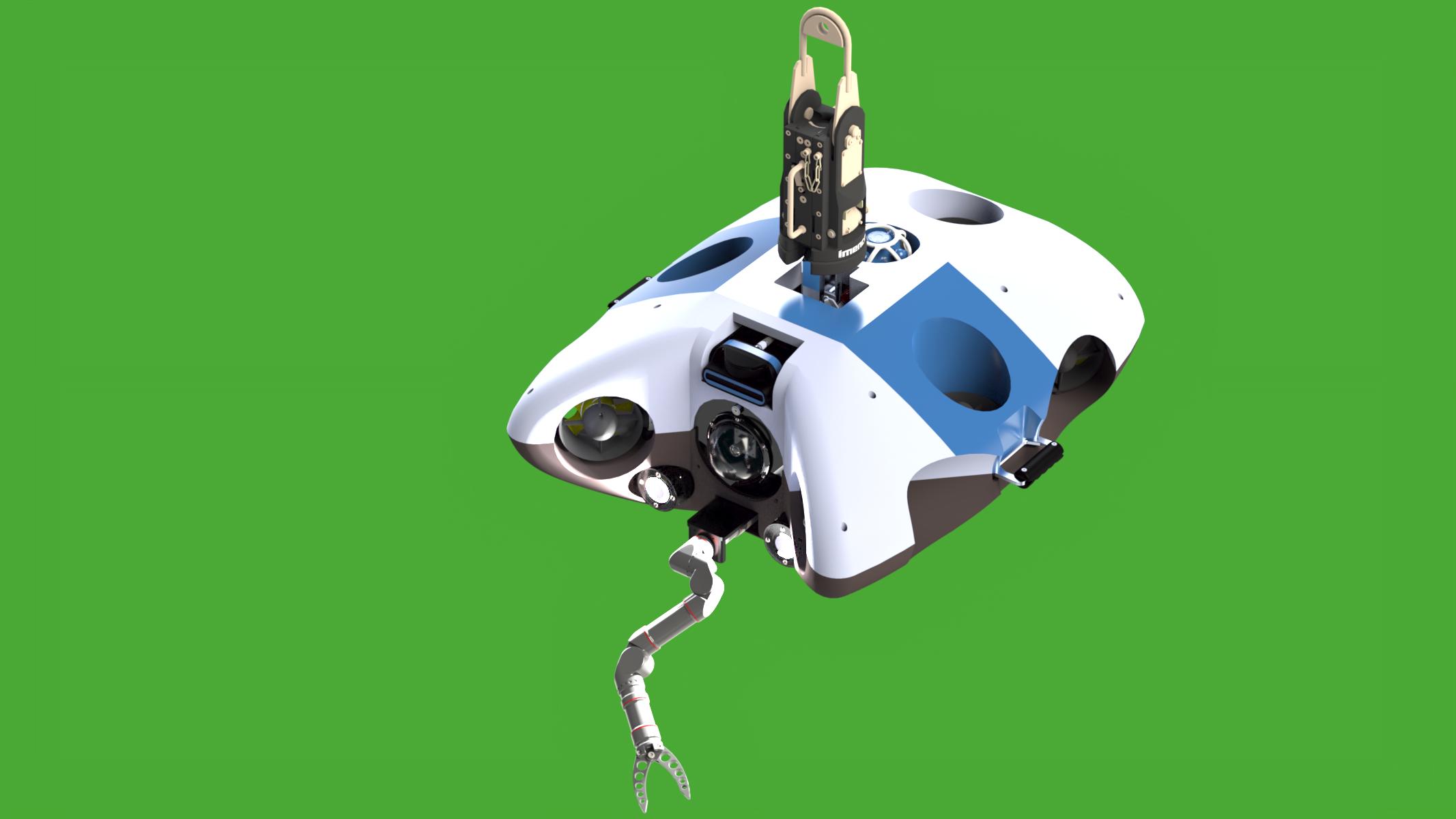 AUV with Reach Alpha manipulator and imenco