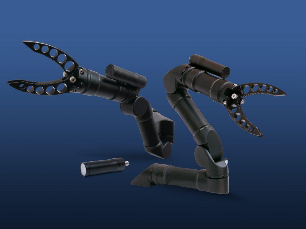 The Micro IP Camera mounted on Reach Alpha 5 manipulators
